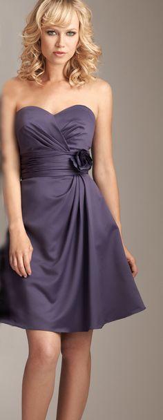 Short bridesmaid dress, cute!