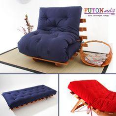 Sofá Cama Futon modelo S com base em 3 posições. Sofá, cama e chaise long pra você!!!