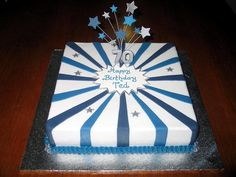 Cake Decorating Idea Message In The Middle With Large Stripes Outward