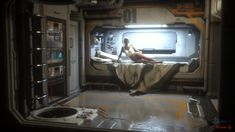 Star Citizen Gameplay FR - Mission Bounty et Dogfight France PvP - Patch Star Citizen, Spaceship Interior, Futuristic Interior, Futuristic Bedroom, Spaceship Art, Spaceship Concept, Michael Gibson, Space Opera, New Retro Wave