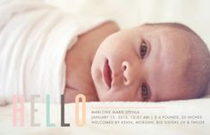 Marley's Birth Announcement & Tiny Prints | PepperDesignBlog.com