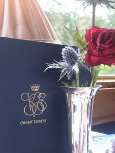 Orient Express menu. A lovely menu, but who can eat at a time like this.