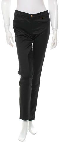 Gucci Mid Rise Skinny-Leg Pants Women Pants, Skinny Legs, Welt Pocket, Black Pants, Gucci, Zip, Stylish, Fashion, Trousers Women