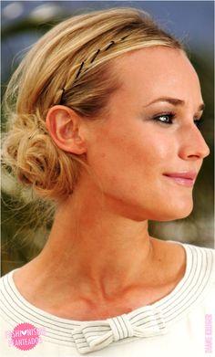10 ideias de penteados: Diane Kruger