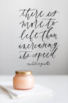 Mahatma Gandhi quote, calligraphy, handlettering