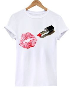 Red Lips Lipstick Kiss Kisses Mascara Funny Fashion Style Makeup Artist Hairdresser Hip Unisex Mens Womens Tee Shirt TShirt by TShirtJoint on Etsy https://www.etsy.com/listing/224294517/red-lips-lipstick-kiss-kisses-mascara