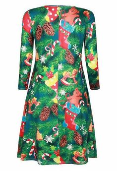 ONTBYB Womens Christmas Dress Printed Mini Skater Flared Dresses OS As picture ** Check this awesome product by going to the link at the image. (This is an affiliate link) Christmas Dress Women, Womens Christmas, Green Shift Dress, Dress First, Swing Dress, Street Style Women, Flare Dress, Vintage Dresses, Evening Dresses