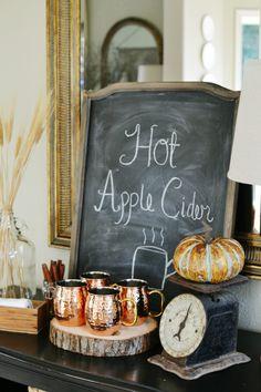 Hot Apple Cider Station - At The Picket Fence