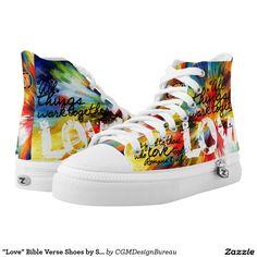 """""""Love"""" Bible Verse Shoes by SkriptureKicks(tm)"""