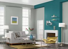 This is the project I created on Behr.com. I used these colors: SILVER CLOUDS(ECC-35-1),ANTIGUA(M460-7),