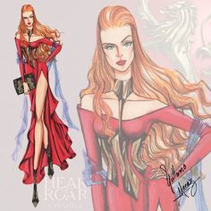 """Game of Thrones Fashion Collection by Guillermo Meraz. """"Cersei Lannister"""" played by Lena Headey."""