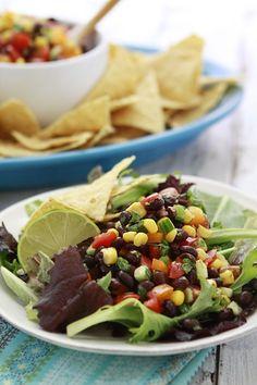 The Best Black Bean Salad Recipes on Yummly Black Bean Salad Recipe, Bean Salad Recipes, Real Food Recipes, Vegetarian Recipes, Healthy Recipes, Healthy Dishes, Veggie Dishes, Quesadillas, Enchiladas