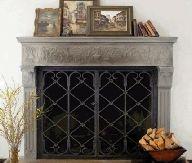 Tableaux Faux Iron Decorative Fireplace Screen 1