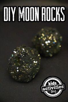 Super fun and easy DIY Moon Rocks