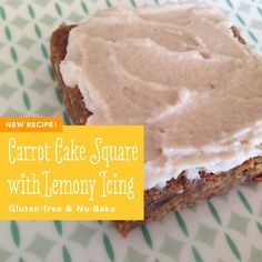 Carrot Cake Squares with Lemony Icing
