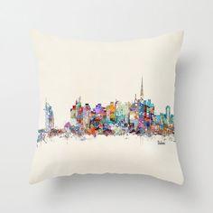 Dubai skyline .colorful modern pop art skylines by oxleystudio