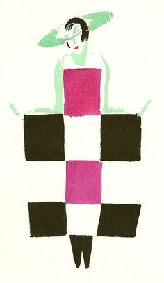 Sonia Delaunay's artwork titled Robe Mots-Croises 1923 presented by Artophile