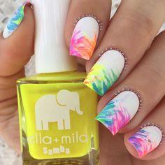 Cute Summer Nail Designs, Cute Summer Nails, New Nail Designs, Simple Nail Art Designs, Spring Nails, Cute Nails, Nail Summer, Simple Art, Spring Summer
