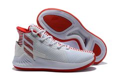 018c81c8a28b 2018 adidas D Rose 9 White Red Men s Basketball Shoes