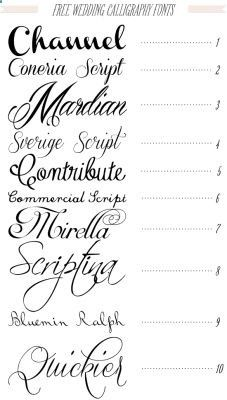 515099894623796603100 Free 40 fonts for DIY Printable Wedding Invitations