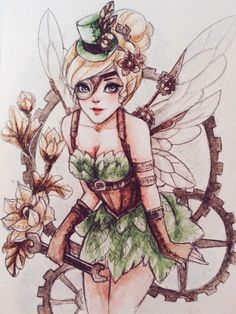 steampunk tinkerbell art - Google Search
