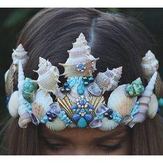 mermaid crown @chelseasflowercrowns