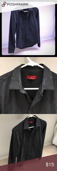 ec783efd135e3 Striped men s button down shirt Black-white striped button down shirt.  Moderately worn Zara