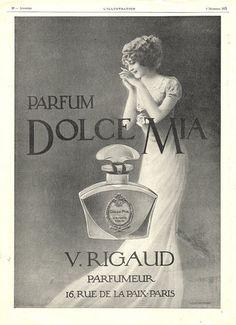 Rigaud (Perfumes) 1913 Dolce Mia (L) Vintage advert Perfumes   Hprints.com
