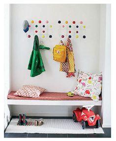 Entryway organization - for kids