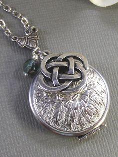 antique Irish jewelry--locket and celtic knot