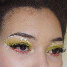 Products used: Urban Decay eyeshadow Thrash (not vegan) Neve Cosmetics eyeshadow Banana ColourPop Ultra Satin in Botanical Kat Von D eyeliner in Trooper Illamasqua eyeliner Scribe Red Cherry 747M lashes