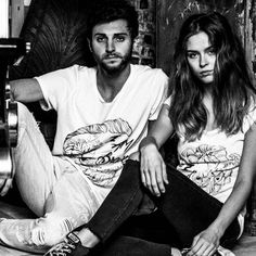 MONO| Maglieria Artigianale  Model: @federica_gasparini and @fede_pasi_  Photo by @alexaldegheriphoto  #mono#tshirt#blackandwhite#fashion#style