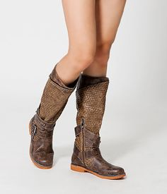 Woven Tall Boots