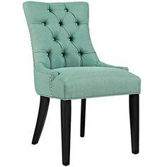 Modern Contemporary Urban Design Kitchen Room Dining Chair, Blue, Fabric