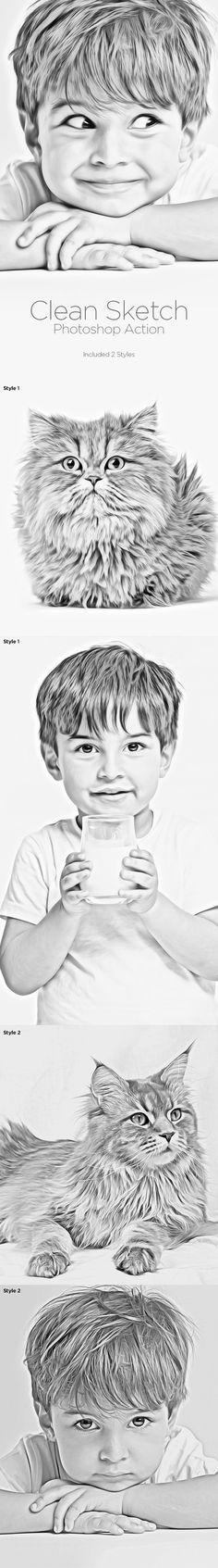 Clean Sketch Photoshop Action Download here: https://graphicriver.net/item/clean-sketch-photoshop-action/9562199?ref=KlitVogli