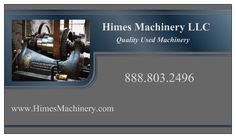 HIMES MACHINERY LLC. BUSINESS CARD