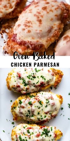 This delicious Oven Baked Chicken Parmesan recipe is easy and doesn't require any frying. Because this chicken Parmesan is baked, it is healthy, quick and easy! Make this crispy baked Parmesan crusted chicken for dinner tonight in about thirty minutes! Air Fryer Recipes Chicken Breast, Oven Chicken Recipes, Chicken Breast Recipes Healthy, Baked Chicken Breast, Cooking Recipes, Baked Chicken Meals, Healthy Crockpot Chicken Recipes, Easy Chicken Breast Dinner, Easy Oven Recipes