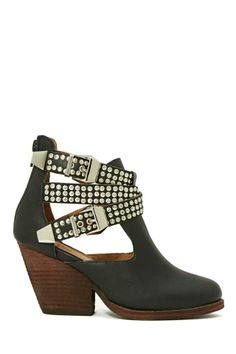 Jeffrey Campbell Watson Buckle Leather Boot