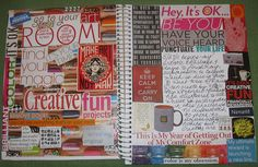Love the colors and creativity that was put into this! Very inspiring. Journal page by Michele Littlefield.
