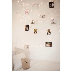 Cutest DIY photo wall!! Engagement party decor?