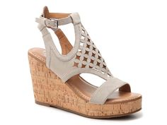 Cameron Wedge Sandal - loving this style and color for spring/summer #dsw #francosarto #beaconstyle