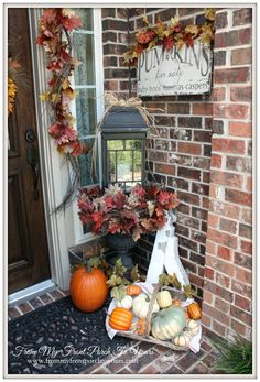 From My Front Porch To Yours- Falling For Fall Porch Party- A Fall Porch Link Up Party