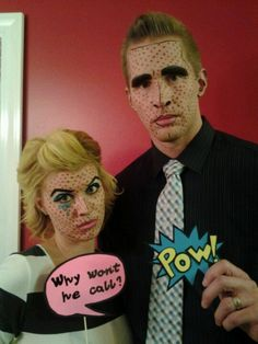Pop art make-up by yours truly :)