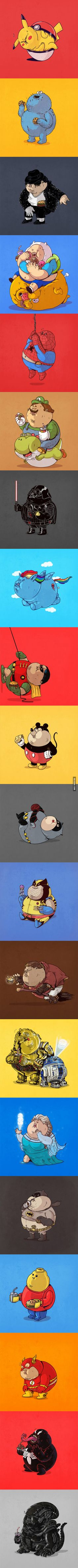 Morbidly Obese Pop Culture Icons.