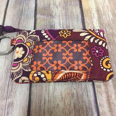 cc619393ea Vera Bradley Safari Sunset Window Zip ID Holder Wallet Coin Purse Keychain