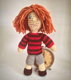 Handmade crochet Kurt Cobain