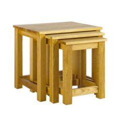 Studio Solid Oak Nest of Tables