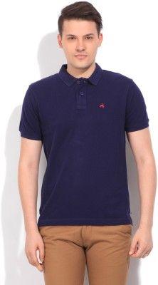 Wrangler Striped Men's Polo Dark Blue T-Shirt - Buy Navy Wrangler Striped Men's Polo Dark Blue T-Shirt Online at Best Prices in India | Flipkart.com