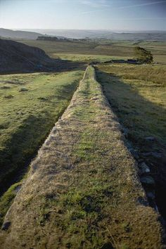 An Elevated View Of Hadrians Wall Canvas