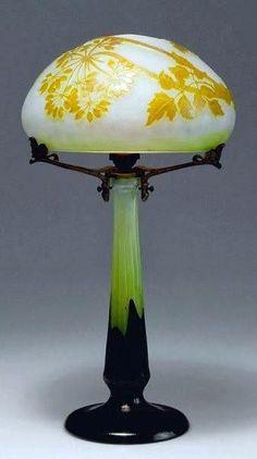Art Nouveau - Lampe - Pâte de Verre - Emile Gallé More @ FOSTERGINGER At Pinterest
